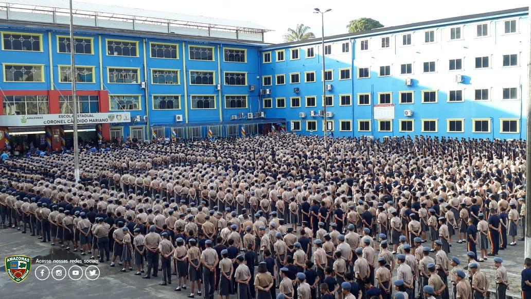 Polícia Militar do Amazonas A comunidade CMPM V amanheceu em festa ...